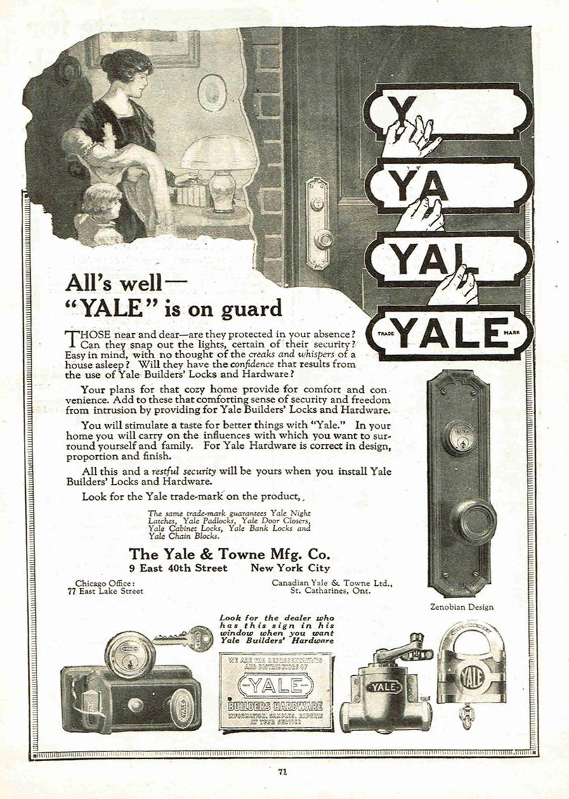dating yale and towne locks