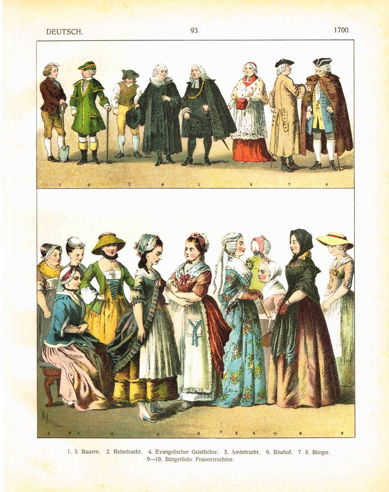 Germany c.1700: peasants, tourists, bishop, middle class ...